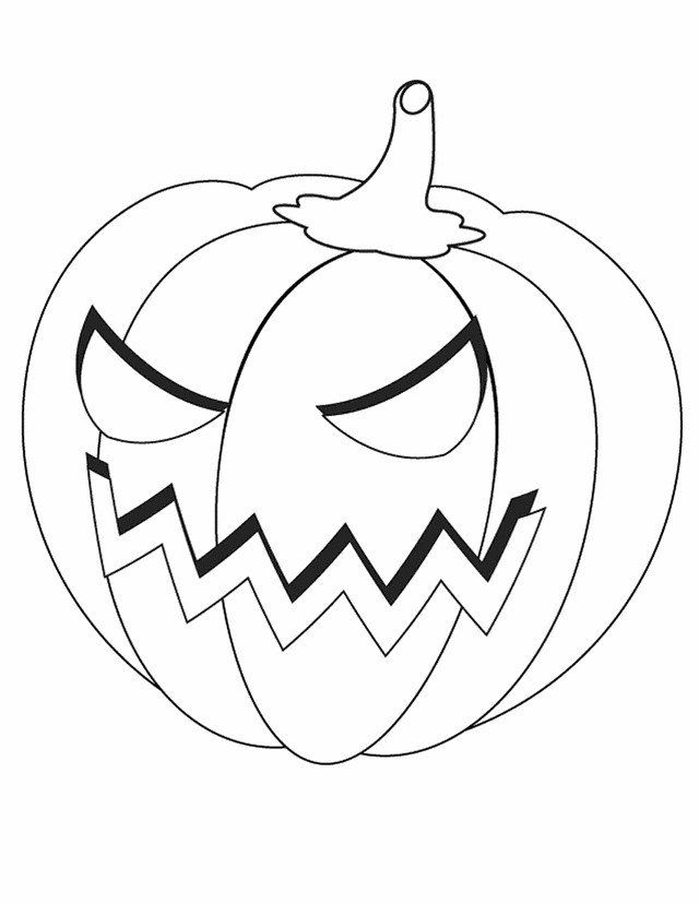 Jack O Lantern Coloring Pages Stage Happy Jack O Lantern ...