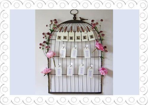 lovebirds theme wedding , table plan #MayWeddingPhotoChallenge