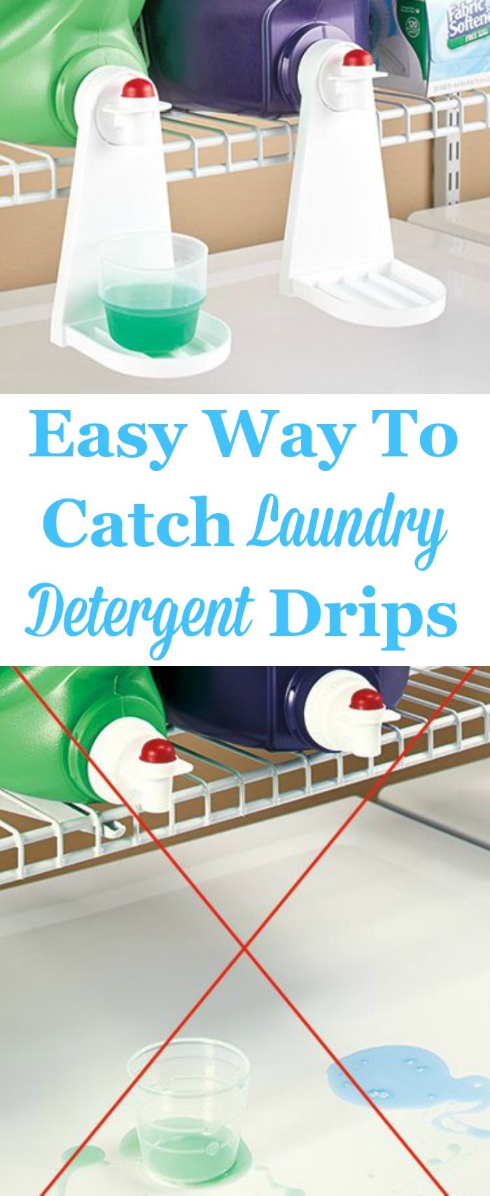 Do you use those large jugs of laundry detergent that seem to drip? If so, these Tidy Cup laundry detergent caps catch the drips so there's no more mess, and make it even easier to get your detergent each time.