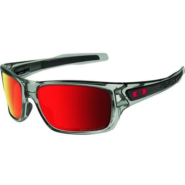 Oakley Turbine Sunglasses - Polarized ($190) ❤ liked on Polyvore featuring men's fashion, men's accessories, men's eyewear, men's sunglasses and oakley mens sunglasses