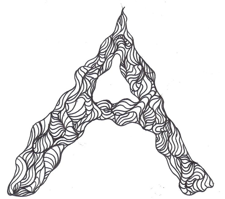 26 best letter drawings images on pinterest a letter art drawings the letter a thecheapjerseys Gallery