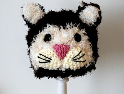 knitted Cat hat 3 - 8 years