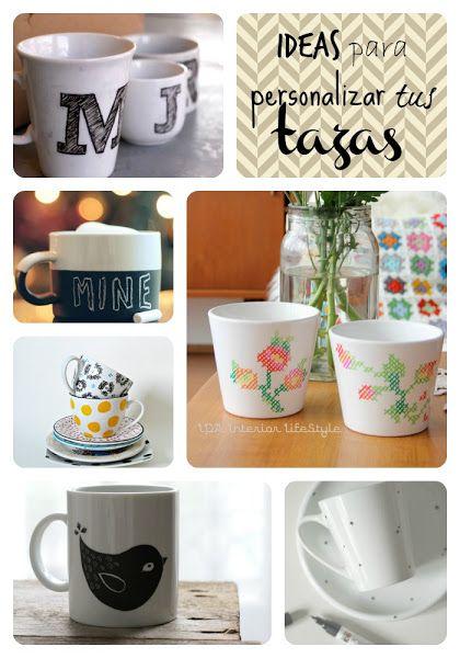 Ideas para personalizar tazas