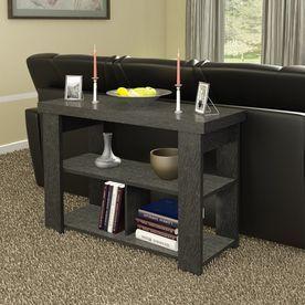 Ameriwood Home Hollowcore Black Ebony Rectangular Sofa Table 5189026Pcom