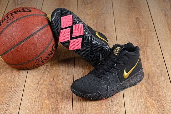 ca38bd2807a9 Nike Kyrie 4 Black Gold-Pink For Sale