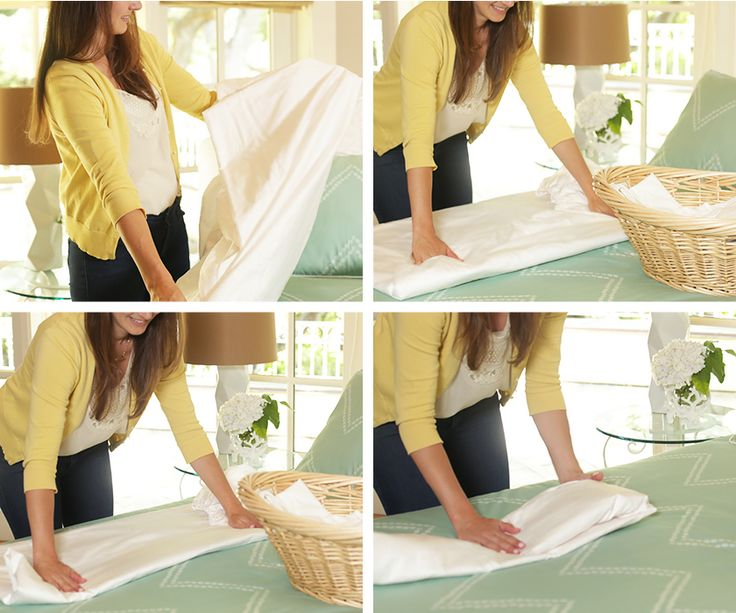 how to fold a fitted sheet perfectly in seconds-7