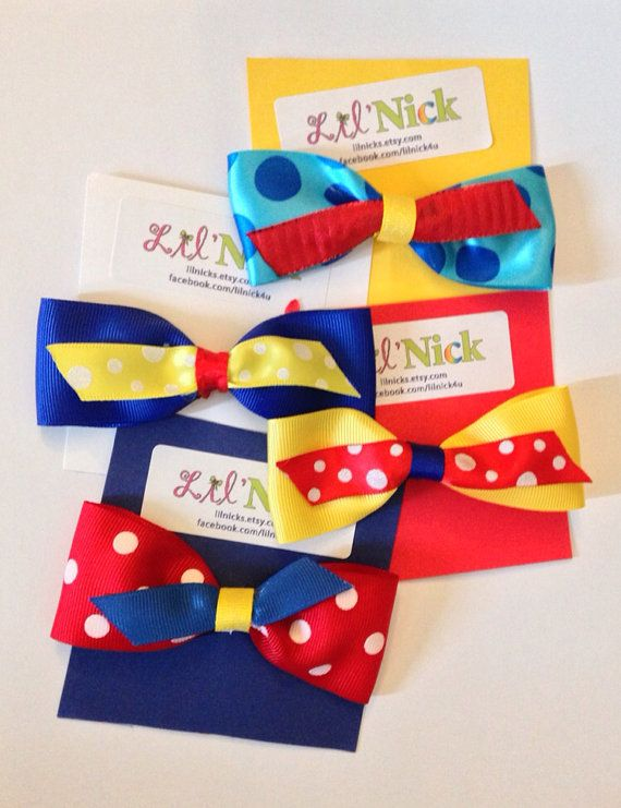 Circus bow Birthday party Favor  - kids party favor, party favor, carnival party favor, circus party favor on Etsy, $2.99
