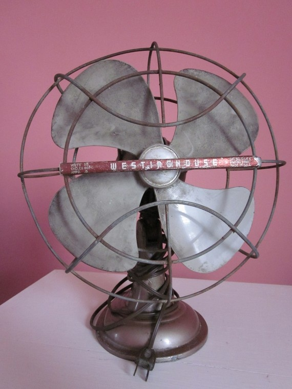 Vintage Westinghouse Electric Fan just like at my Grandparents house...I love that sound..........