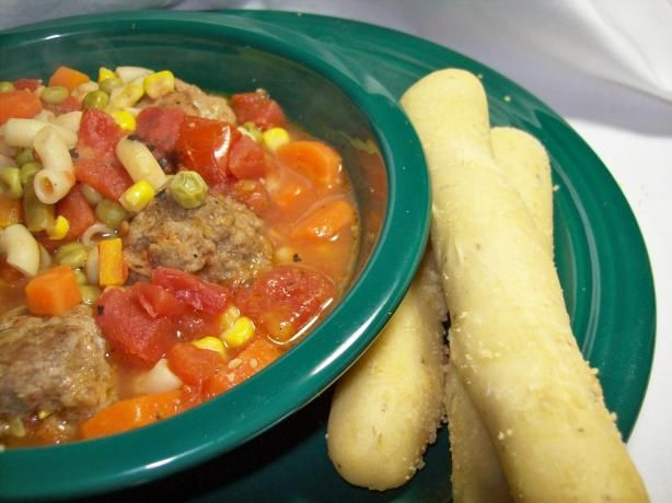 Italian Meatball Soup: Italian Food, Food Ideas, Italian Meatballs ...