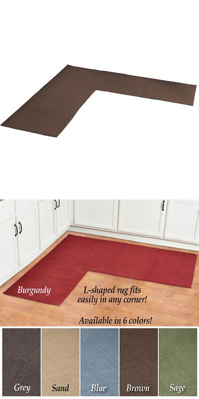 Other Rugs And Carpets 8409 L Shaped Berber Corner Skid Resistant Floor Hallway Kitchen Runner Rug It Now Only 29 99 On Ebay