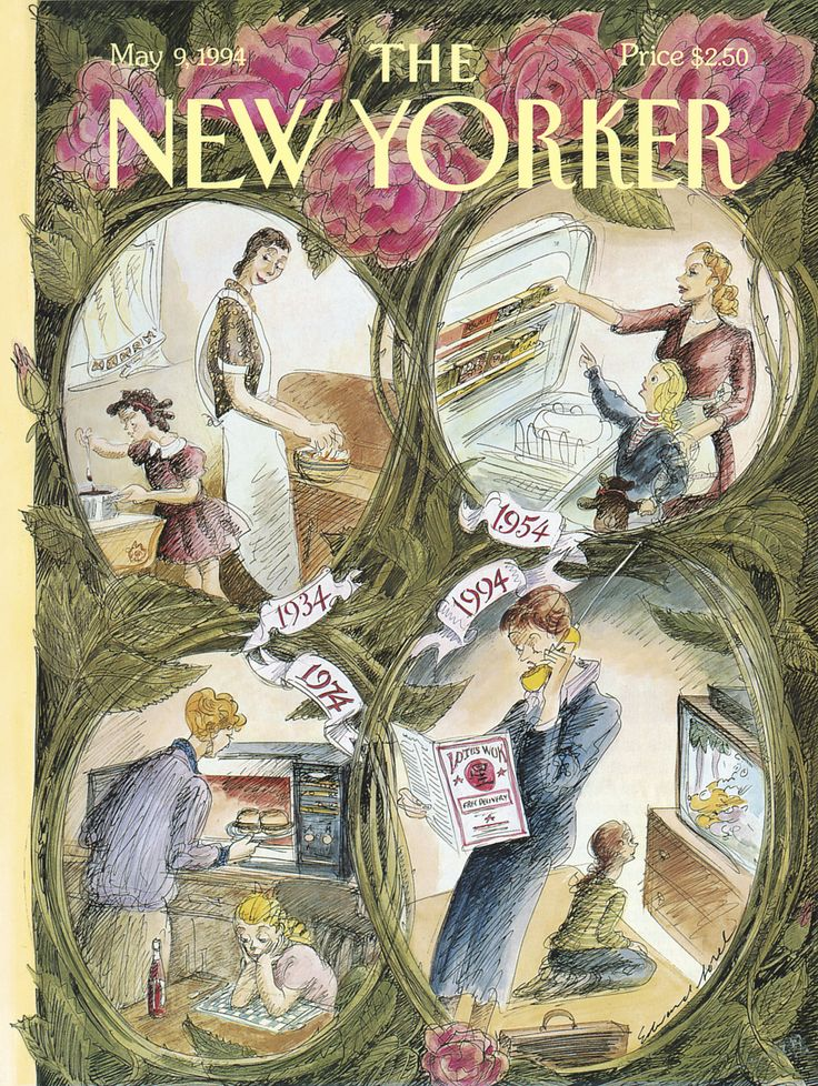 The New Yorker Mother  39 s Day Cover  May 9  1994   Moms   by Edward Sorel