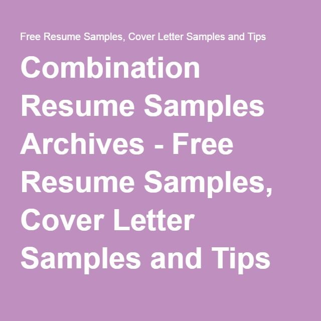 38 best Cover Letter images on Pinterest Cover letters, Cover - combination resume samples
