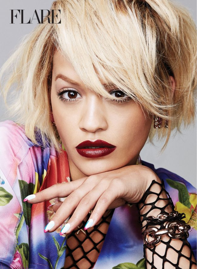 Rita Ora Up Close in Flare Magazine