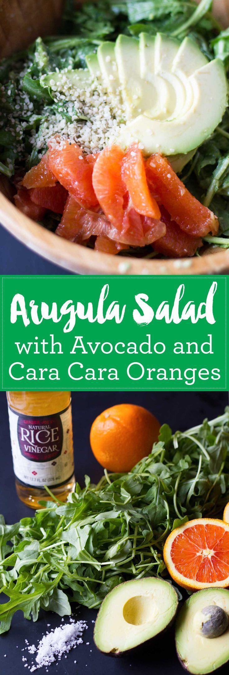 Arugula Salad with Avocado and Cara Cara Oranges - Vegan, Oil-Free, Gluten-Free  http://eatwithinyourmeans.com
