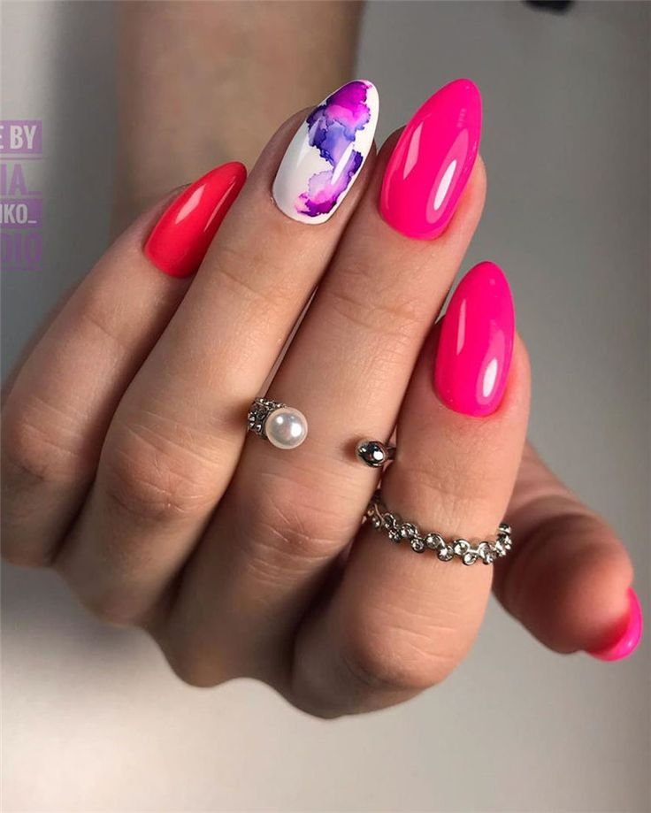 70+ Cute & Stylish Gel Summer Nails for 2019 – Rosa Pink Nails