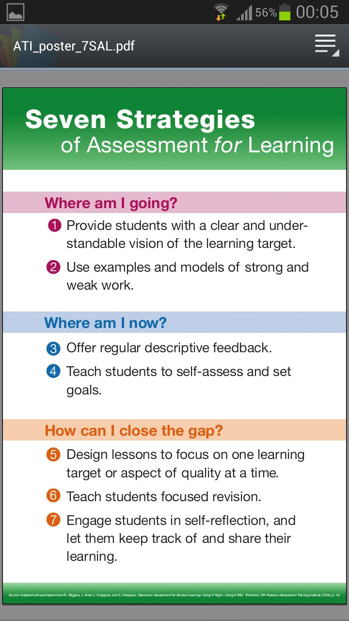 assessment for learning strategies essay Formative and summative assessments assessment allows both instructor and student to monitor progress towards achieving learning objectives, and can be approached in a variety of ways formative assessment refers to tools that identify misconceptions, struggles, and learning gaps along the way and assess how to close those gaps.