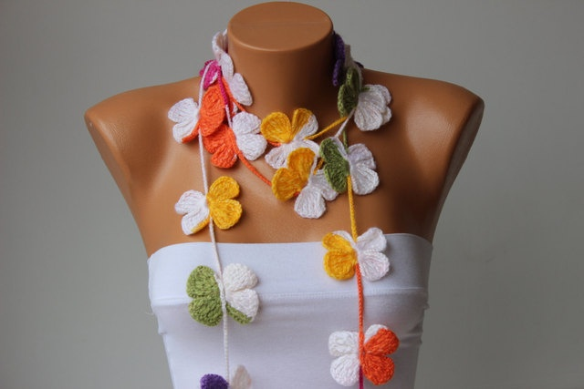 'Salsa Ruffle Scarf orButterfly Scarf You Chose' is going up for auction at  3pm Fri, Mar 22 with a starting bid of $15.