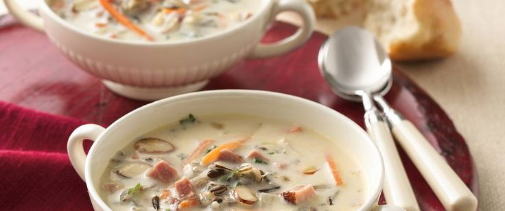 Give traditional wild rice soup a twist with this creamy ham version. It's in your slow cooker, filling the house with that mouth-watering aroma, in just 15 minutes.