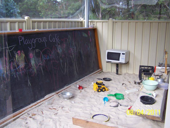 "Love this sand pit kitchen! - image from Playgrounds WA ("",)"