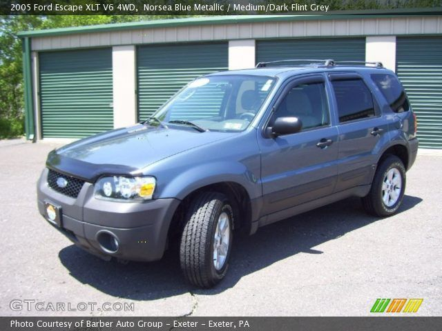 pictures of a 2005 blue ford escape | Norsea Blue Metallic - 2005 Ford Escape XLT V6 4WD - Medium/Dark Flint ...
