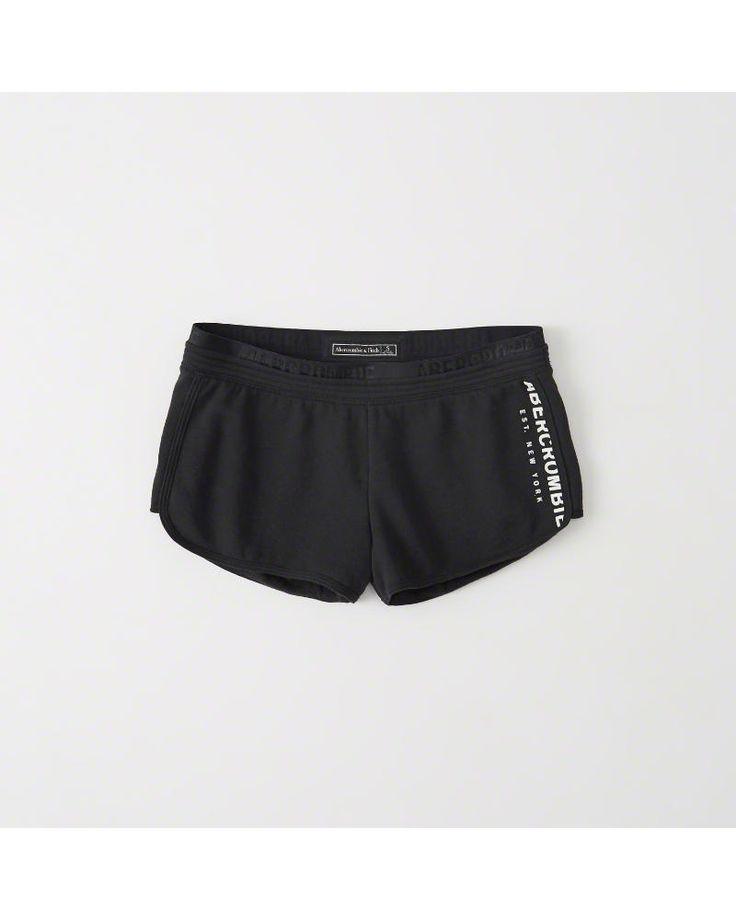 A&F Women's Fleece Shorts in Black - Size XS
