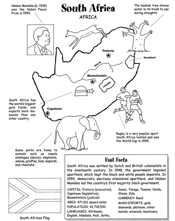 africa coloring pages preschool - photo#36