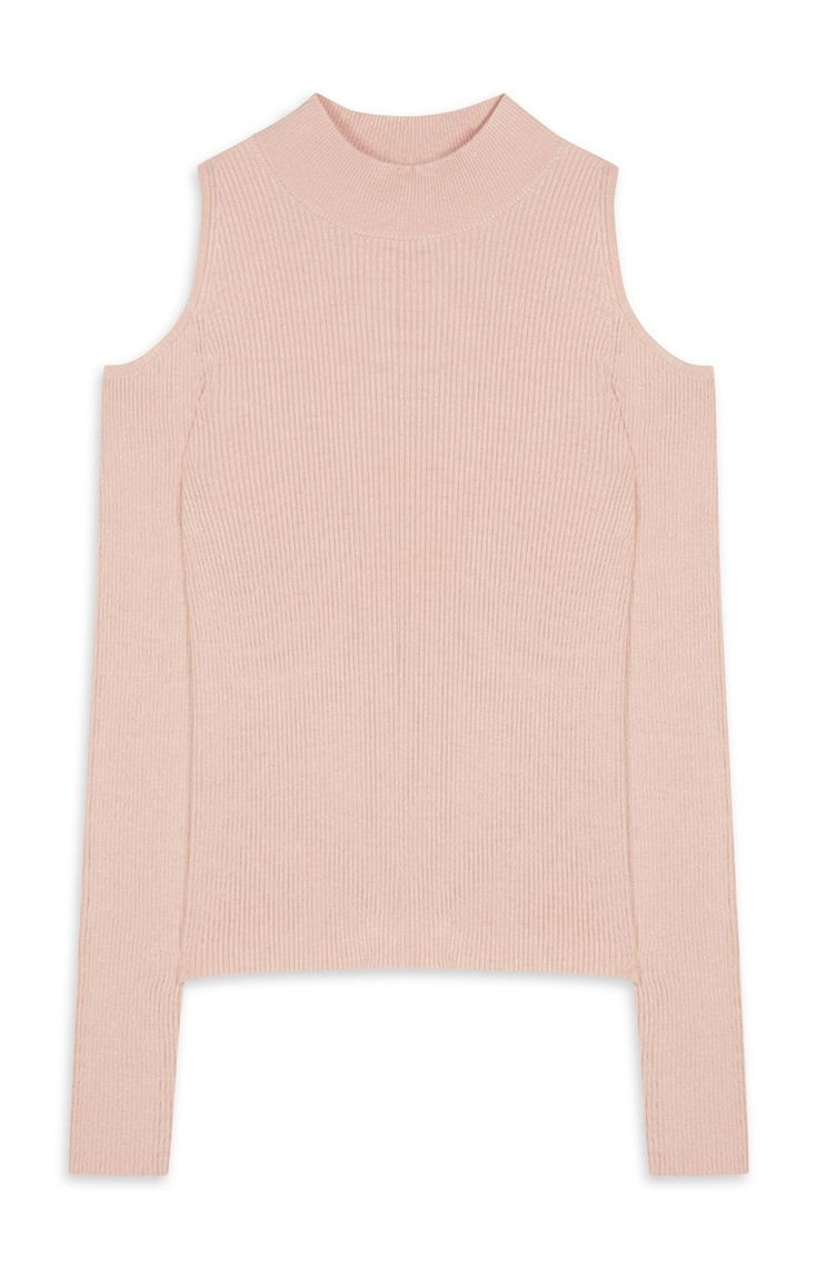 Primark - Blush Cold Shoulder Turtle Neck Jumper
