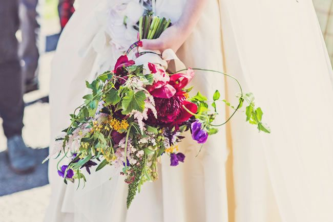 """This year if you're having an autumn wedding, then why not choose flowers inspired by the woodland? """"Try ferns, foxgloves and blowsy roses,"""" says Sabine. """"The look you're going for is unstructured and wild."""" #ChandosBride #WeddingTrends2015"""