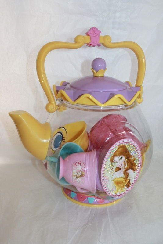 Disney Mrs Potts Plastic Kids Tea Set Storage Inside Pot