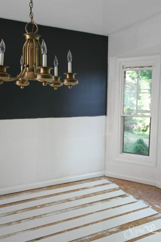 Diy Shiplap Walls Sheets Of Floor Underlayment For