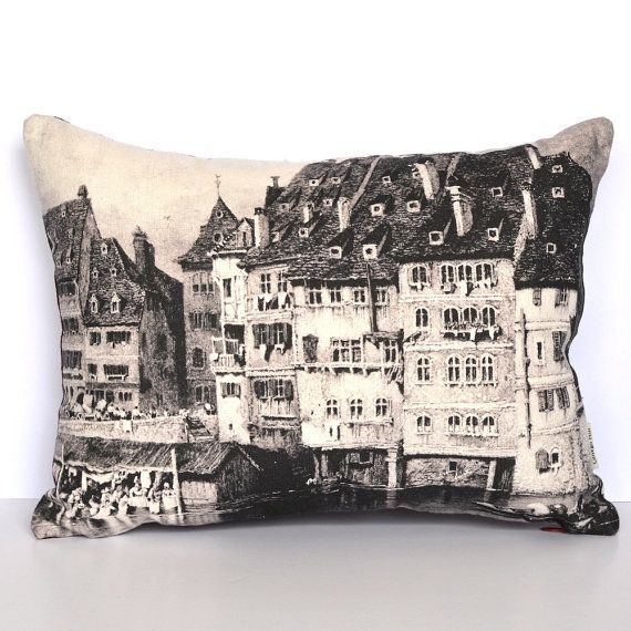 Strasbourg France Large Cushion Cover by GinkgoHillHomewares, $75.00