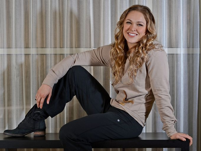 Ronda Rousey relaxes in Torrance, Calif., for just a moment in the days ahead of her historic UFC 157 fight against Liz Carmouche.