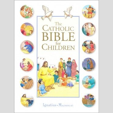 From the creation of the world to the infancy of the Church, the important stories from both the Old and New Testament are vividly retold and illustrated for young people in The Catholic Bible For Children. Also included are chapters on the prophets and the psalms. In the back is a glossary of important people, places and objects, providing added information. $14.95