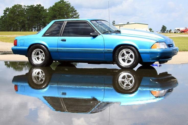 Bobbie Akines' Blue 1992 Mustang LX