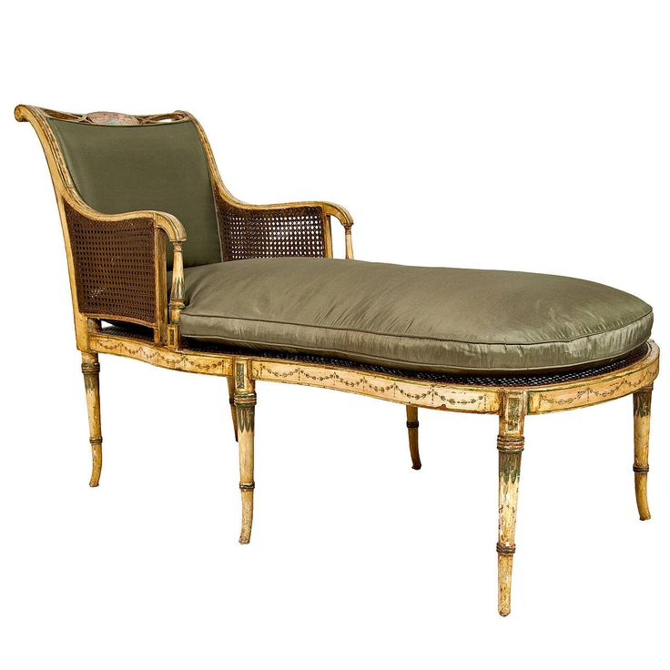 Sheraton Painted Fainting Couch,