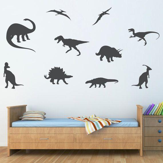 Vintage Dinosaur Wall Decal Extra Large Set of by StephenEdwardGraphic