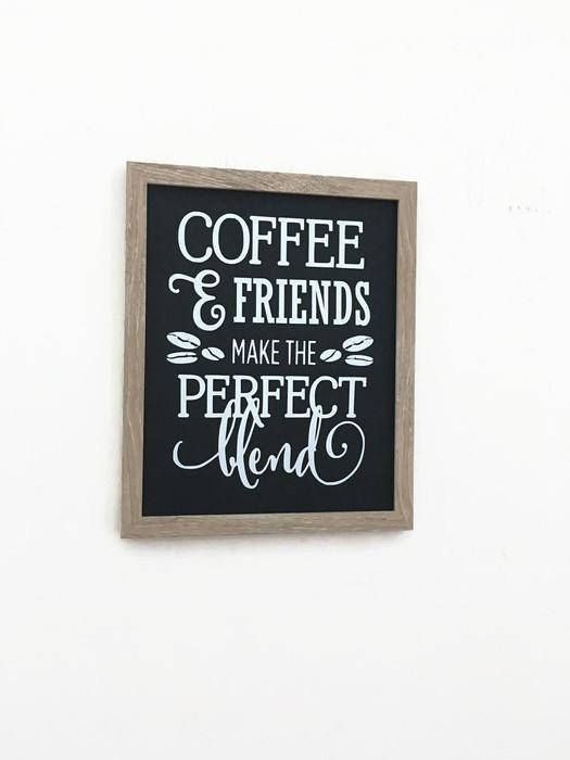Rustic Coffee Sign Coffee And Friends Make The Best Blend #coffeesigns