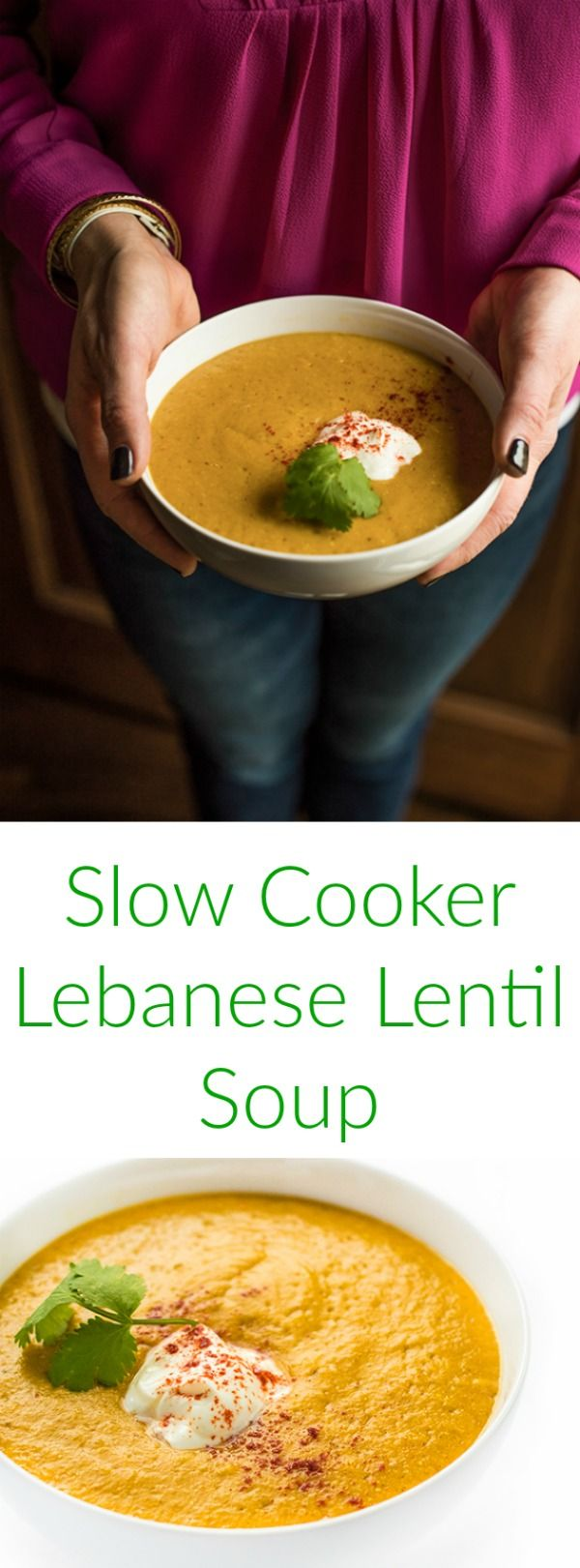 This authentic vegetarian Lebanese soup recipe made with red lentils and vegetables is seasoned with cumin and turmeric. Between the smoky flavor and fabulous texture, everyone will love this!