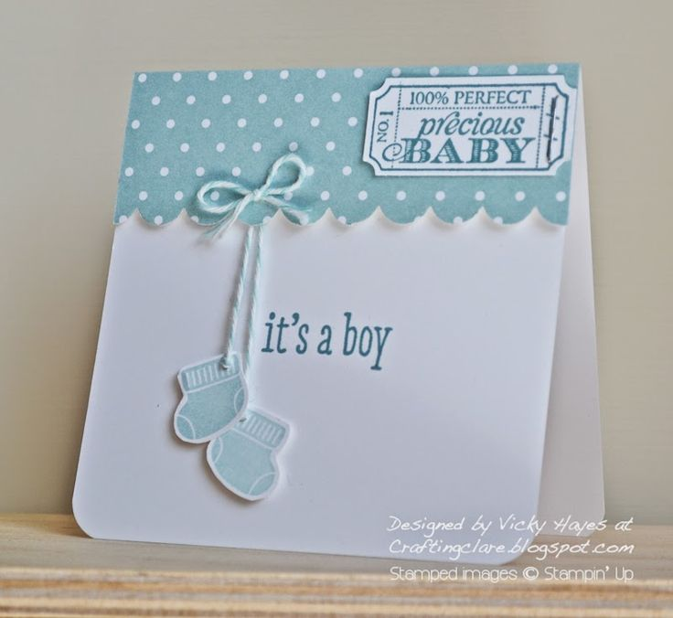 Using Something for Baby by Stampin' Up - for a little boy