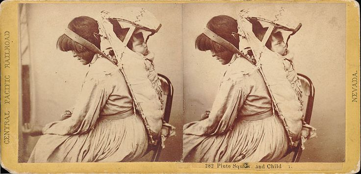 Paiute woman and child - 1865 Old Photos - Paiute | www.American-Tribes.com