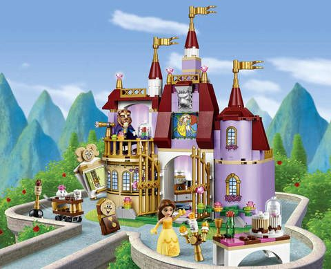LEGO® Disney Princess Belle's Enchanted Castle 41067:<br>Recreate classic scenes from the beloved movie with this incredibly detailed Disney's Beauty and the Beast LEGO model, including the balcony, stained glass window, enchanted rose and the magic mirror. The ballroom floor and dining table have a rotating function for dancing. The Beauty and the Beast LEGO set includes 2 mini-doll figures: Belle and transforming Beast/Prince, plus Lumière, Cogsworth, Mr...