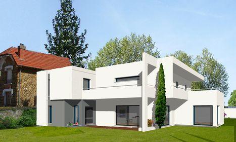 Maison contemporaine IDF isolation brique monomur construction maison bbc effinergie | Demain ma maison | Mon Habitat Vert | Scoop.it