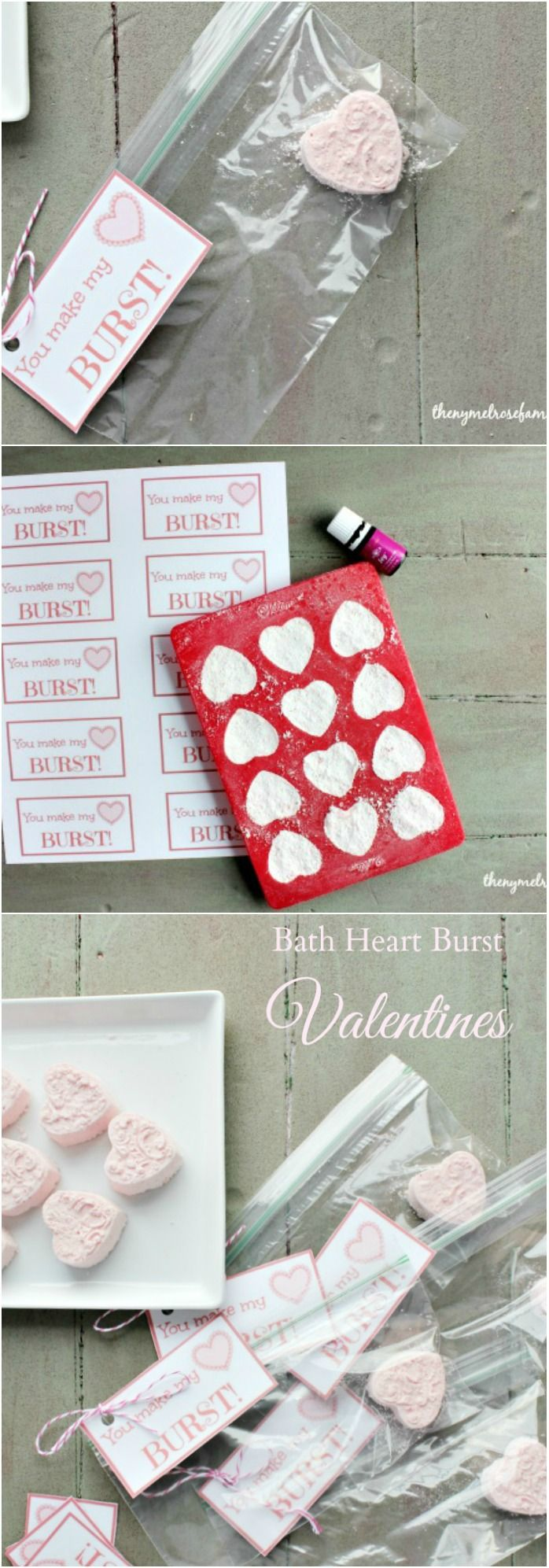Bath Heart Burst Valentines with Free Printable Tags are perfect creative valentines.