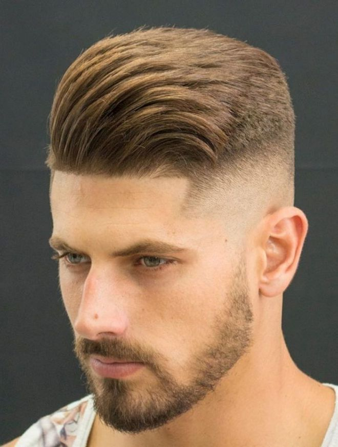 Skin Fade Frisur Mit Kleinem Bart Manner Frisuren 2019
