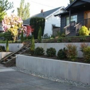 Concrete yard Wall