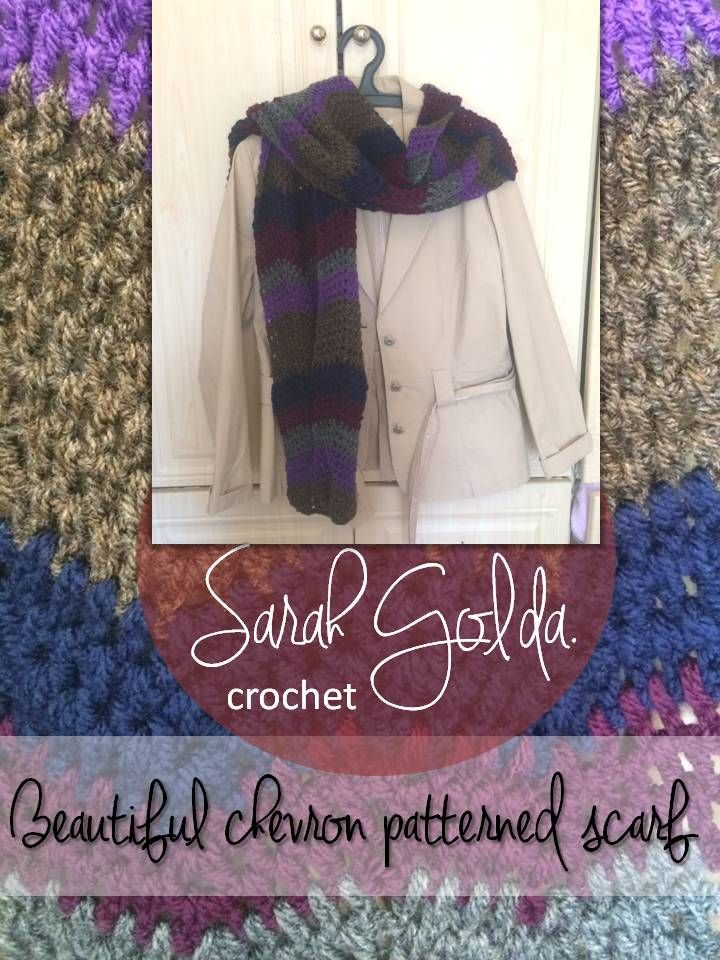 This is a beautiful chevron patterned scarf I crocheted for a birthday girl