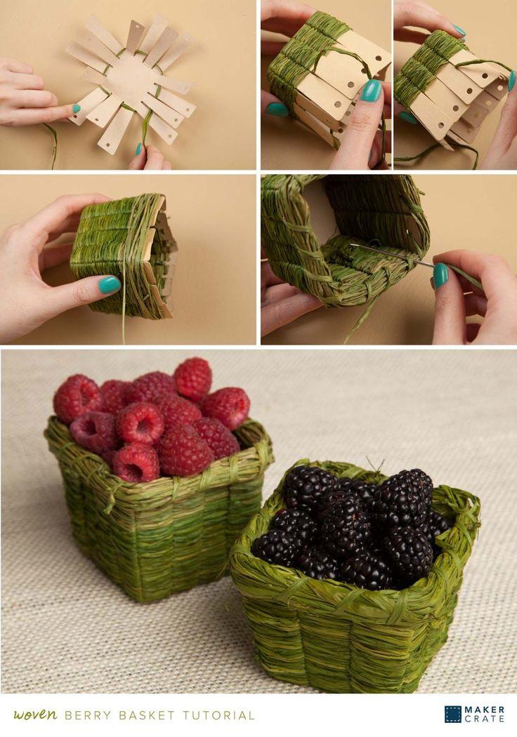 Woven Berry Basket #weaving Woven Berry Basket | Maker Crate
