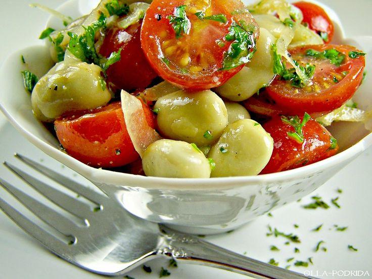 Olla-Podrida: Fava Bean and Cherry Tomato Salad