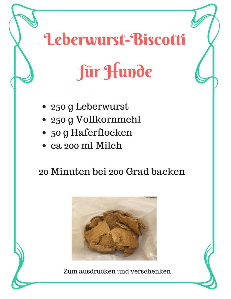 Printable für Hundebsitzer - Lecker Kekse kommen immer gut an!