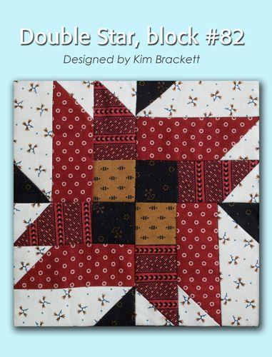 100 Blocks Sampler Sew Along Block 31: Double Star designed by Kim Brackett #100BlocksSampler